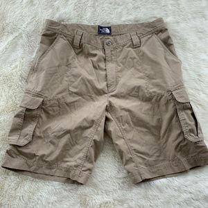North Face Tan Cargo Shorts Men's 38